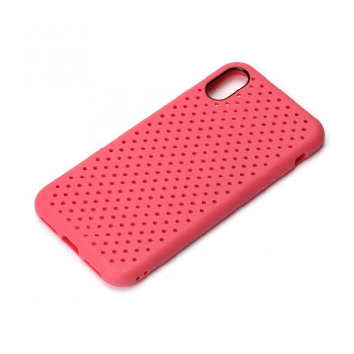 【iPhone XS/Xケース】iJacket ドットメッシュケース ピンク iPhone XS/X_0