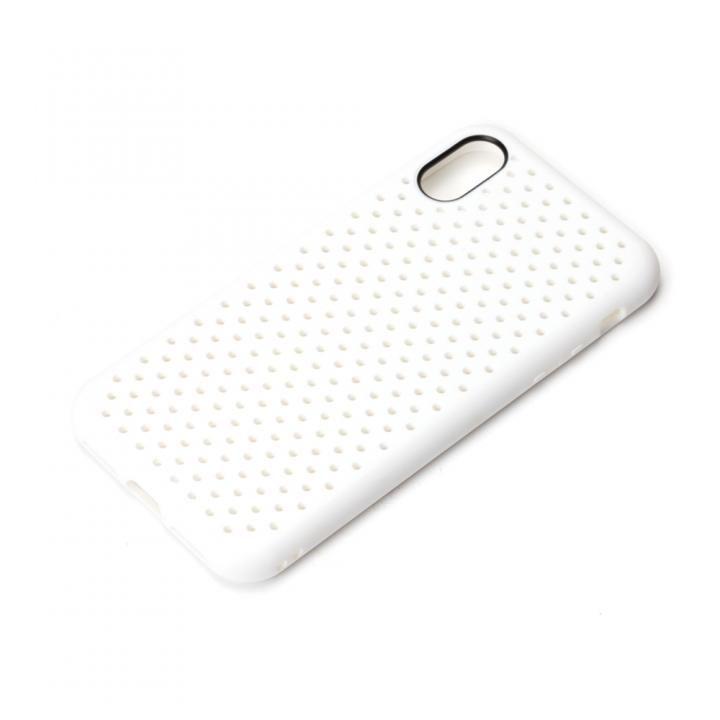 【iPhone XS/Xケース】iJacket ドットメッシュケース ホワイト iPhone XS/X_0