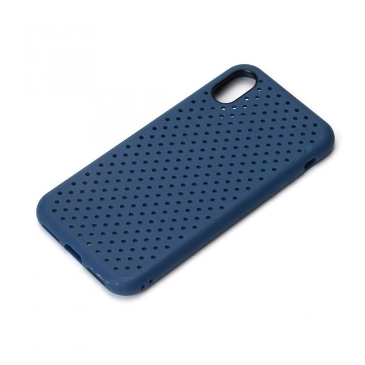 iJacket ドットメッシュケース ネイビー iPhone X