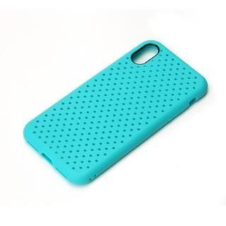 iJacket ドットメッシュケース ブルー iPhone XS/X