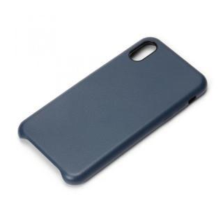 Premium Style PUレザーケース ブルー iPhone X