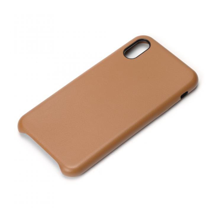 Premium Style PUレザーケース ブラウン iPhone X