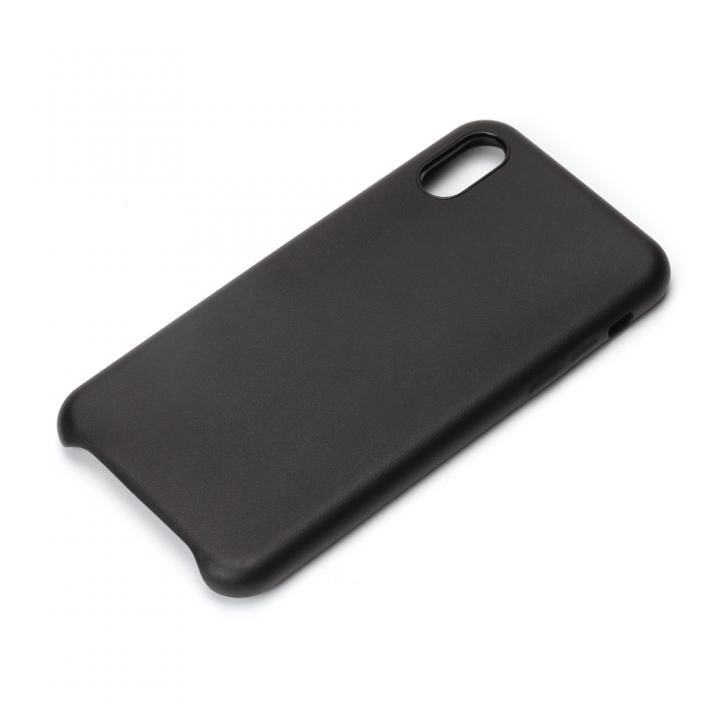 Premium Style PUレザーケース ブラック iPhone X