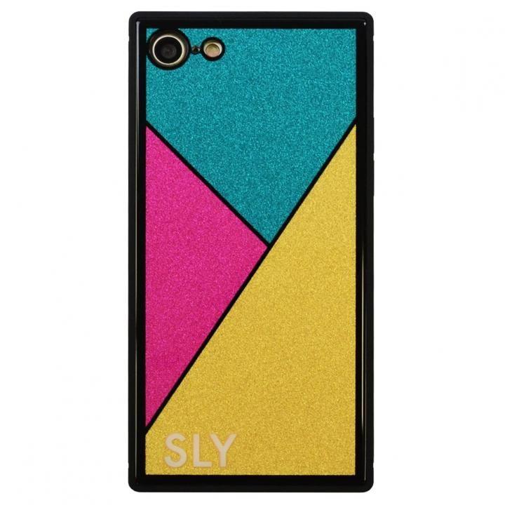 iPhone8/7 ケース SLY ラメ背面強化ガラスケース ゴールド iPhone SE 第2世代/8/7_0