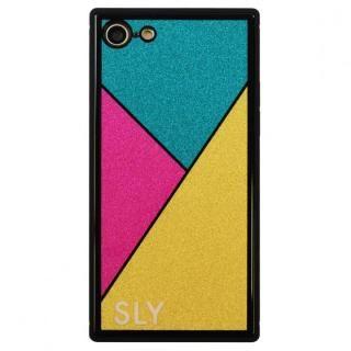 iPhone SE 第2世代 ケース SLY ラメ背面強化ガラスケース ゴールド iPhone SE 第2世代/8/7