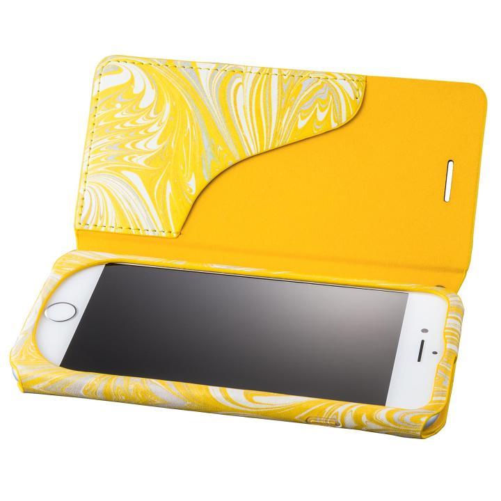 iPhone8/7 ケース GRAMAS FEMME Mab PUレザー手帳型ケース イエロー iPhone 8/7_0