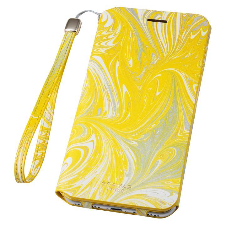 【iPhone8 Plus/7 Plusケース】GRAMAS FEMME Mab PUレザー手帳型ケース イエロー iPhone 8 Plus/7 Plus_0
