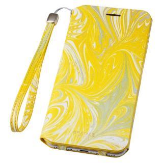 【iPhone8 Plus/7 Plusケース】GRAMAS FEMME Mab PUレザー手帳型ケース イエロー iPhone 8 Plus/7 Plus