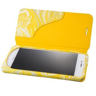 【iPhone8 Plus/7 Plusケース】GRAMAS FEMME Mab PUレザー手帳型ケース イエロー iPhone 8 Plus/7 Plus_1