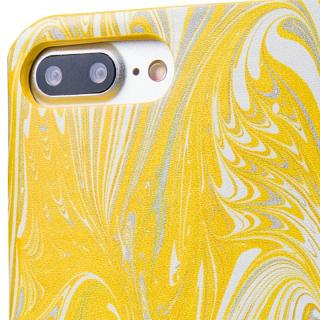 【iPhone8 Plus/7 Plusケース】GRAMAS FEMME Mab PUレザー手帳型ケース イエロー iPhone 8 Plus/7 Plus_7