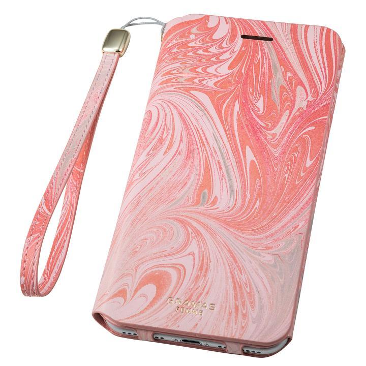 GRAMAS FEMME Mab PUレザー手帳型ケース ピンク iPhone 8 Plus/7 Plus