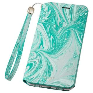 iPhone8 Plus/7 Plus ケース GRAMAS FEMME Mab PUレザー手帳型ケース ブルー iPhone 8 Plus/7 Plus