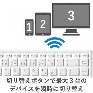 Bluetooth シリコンキーボード ホワイト_3