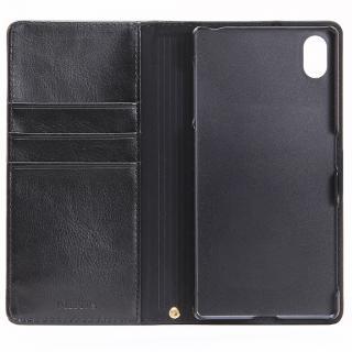 PUレザー手帳型ケース BOOK A ブラック Xperia Z5_2