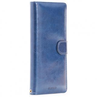 PUレザー手帳型ケース BOOK A ネイビー Xperia Z5