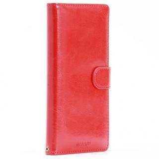 PUレザー手帳型ケース BOOK A レッド Xperia Z5