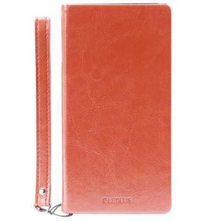 薄型PUレザー手帳型ケース PRIME A キャメル Xperia Z5_1