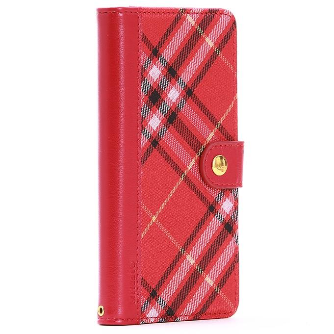 ファブリック手帳型ケース BOOK Fabric チェック柄 Xperia Z5