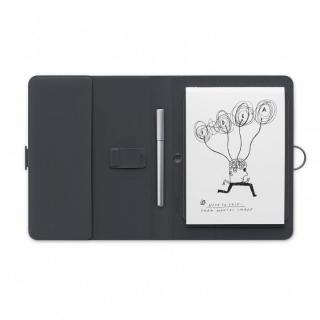 Bamboo Spark with gadget pocket スマートフォリオ ブラックグレー