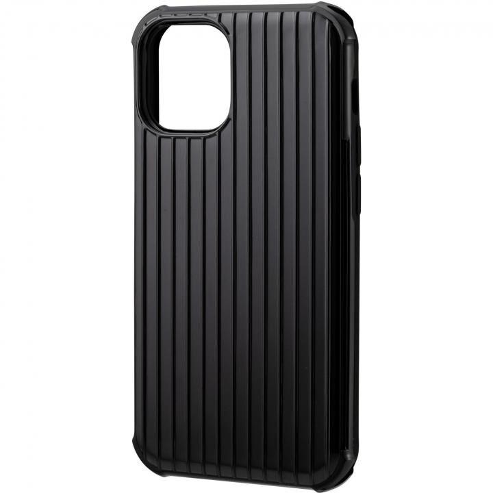 GRAMAS COLORS Rib-Slide Hybrid シェルケース Black iPhone 12 mini_0