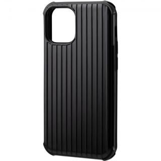 iPhone 12 mini (5.4インチ) ケース GRAMAS COLORS Rib-Slide Hybrid シェルケース Black iPhone 12 mini