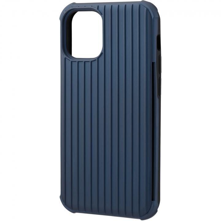 GRAMAS COLORS Rib-Slide Hybrid シェルケース Navy iPhone 12 mini_0