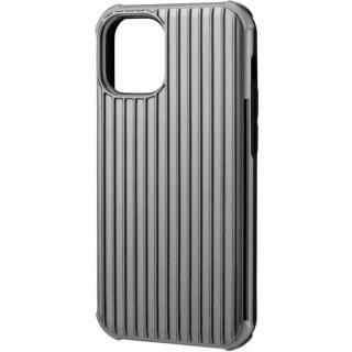 iPhone 12 mini (5.4インチ) ケース GRAMAS COLORS Rib-Slide Hybrid シェルケース Gray iPhone 12 mini