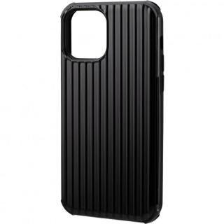 iPhone 12 / iPhone 12 Pro (6.1インチ) ケース GRAMAS COLORS Rib-Slide Hybrid シェルケース Black iPhone 12/iPhone 12 Pro