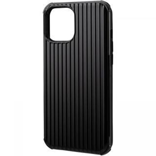 iPhone 12 Pro Max (6.7インチ) ケース GRAMAS COLORS Rib-Slide Hybrid シェルケース Black iPhone 12 Pro Max