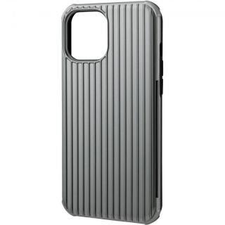 iPhone 12 Pro Max (6.7インチ) ケース GRAMAS COLORS Rib-Slide Hybrid シェルケース Gray iPhone 12 Pro Max
