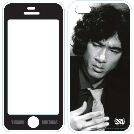 iPhone5用MUSIC SMARTPHONE PROTECTOR 松田優作4