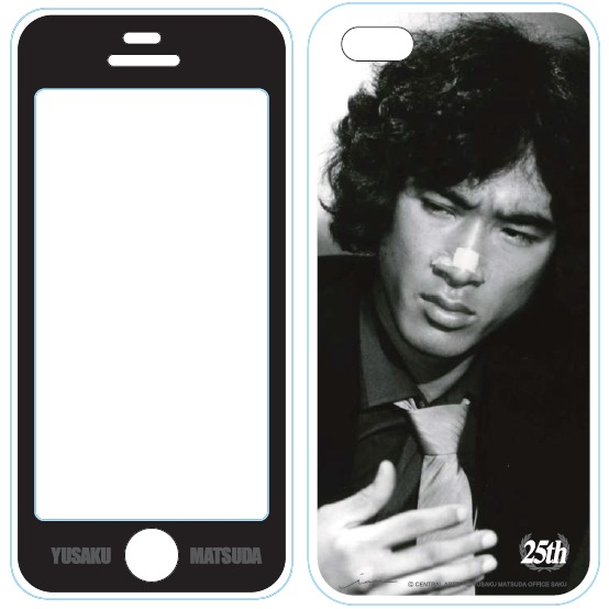iPhone SE/5s/5 ケース iPhone5用MUSIC SMARTPHONE PROTECTOR 松田優作4_0