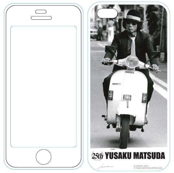 iPhone SE/5s/5 ケース iPhone5用MUSIC SMARTPHONE PROTECTOR 松田優作5_0