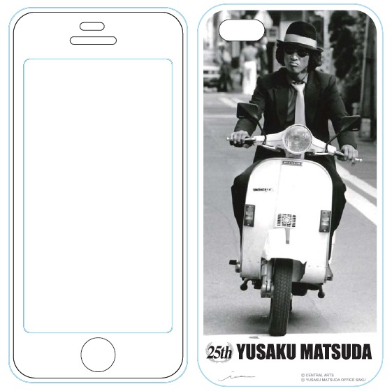 iPhone SE/5s/5 ケース iPhone5用MUSIC SMARTPHONE PROTECTOR 松田優作5_0