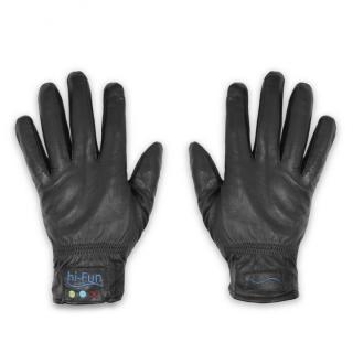 Hi-Call Bluetooth Talking Magic Glove Leather 女性用サイズM黒
