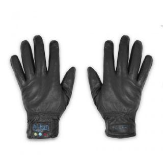Hi-Call Bluetooth Talking Magic Glove Leather 男性用サイズL黒