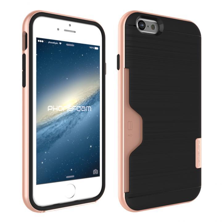 iPhone6s ケース PhoneFoam LINE カード収納機能付きケース ローズゴールド iPhone 6s_0