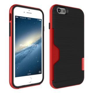 PhoneFoam LINE カード収納機能付きケース ローズレッド iPhone 6s
