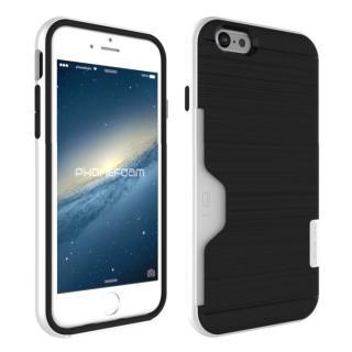 PhoneFoam LINE カード収納機能付きケース ピュアホワイト iPhone 6s