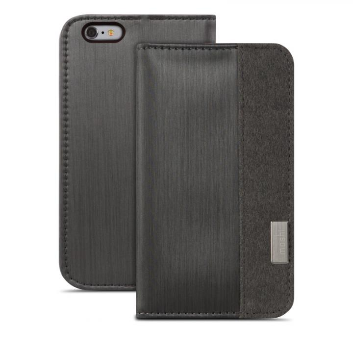 【iPhone6s Plus/6 Plusケース】moshi Overture 手帳型ケース ブラック iPhone 6s Plus/6 Plusケース_0