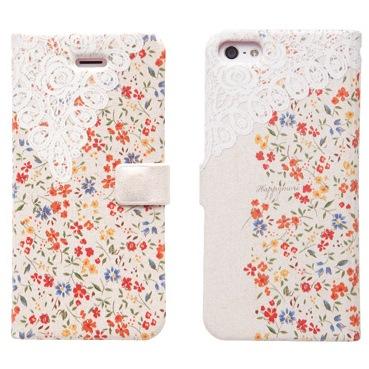 iPhone SE/5s/5 手帳型ケース Blossom Diary オレンジ