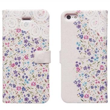 iPhone SE/5s/5 手帳型ケース Blossom Diary アップル
