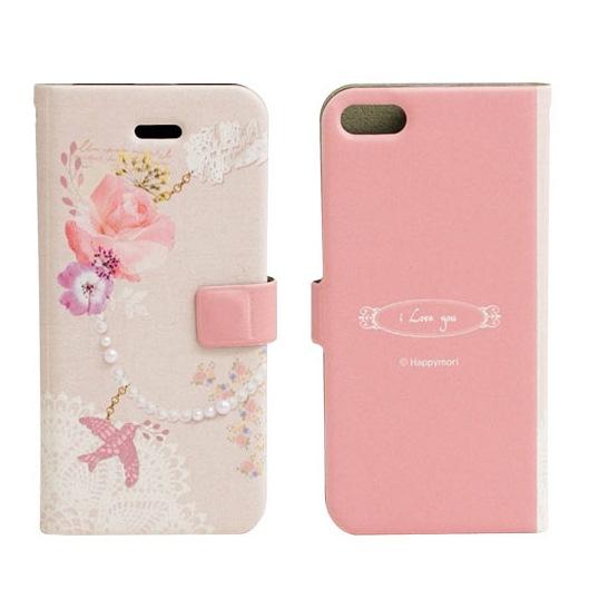 【iPhone SE/5s/5ケース】iPhone5 手帳型ケース Bird Charm_0