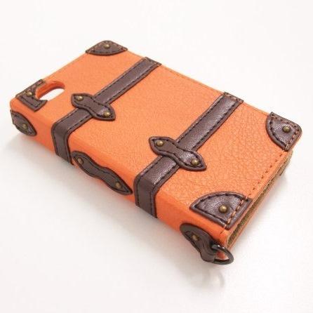 Trolley Case  iPhone4/4s 手帳型ケース Orange_0