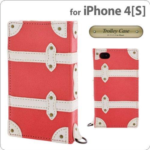 Trolley Case  iPhone4/4s 手帳型ケース Pink_0