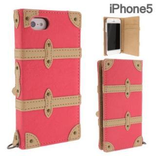 Trolley Case  iPhone5 手帳型ケース Pink