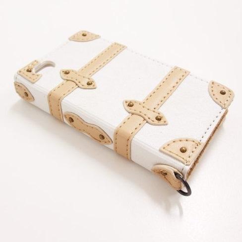 Trolley Case  iPhone4s/4 手帳型ケース white_0