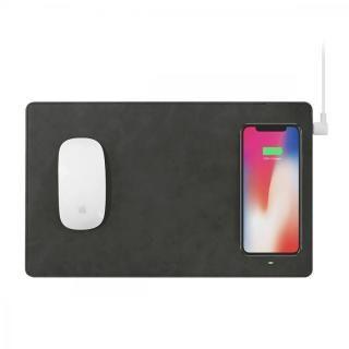 GAZEPAD PRO Qi対応ワイヤレス充電機能付きマウスパッド グレー