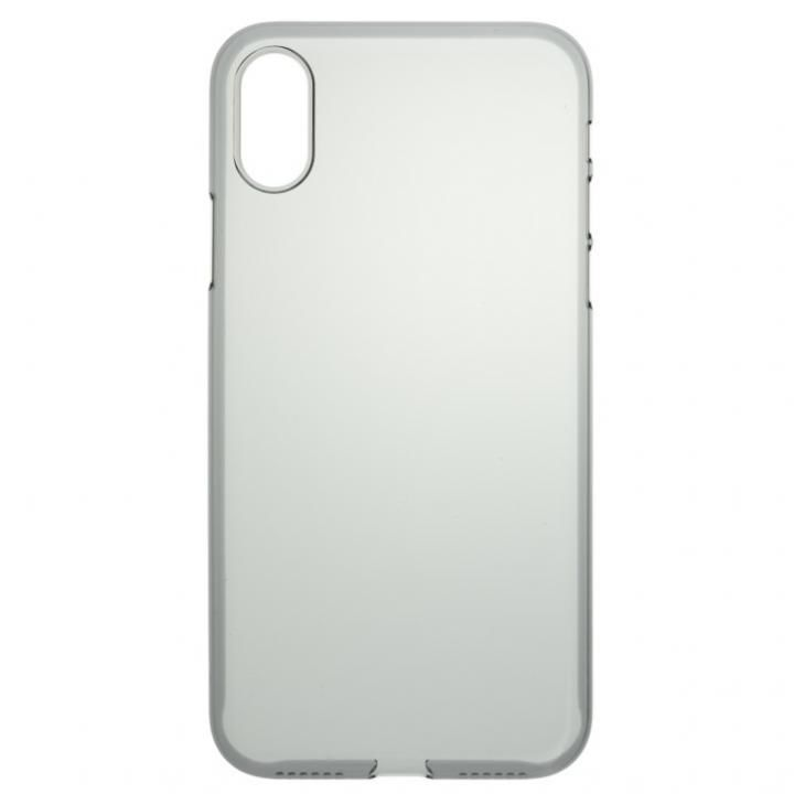 iPhone X ケース パワーサポート  Air jacket クリアブラック iPhone X_0