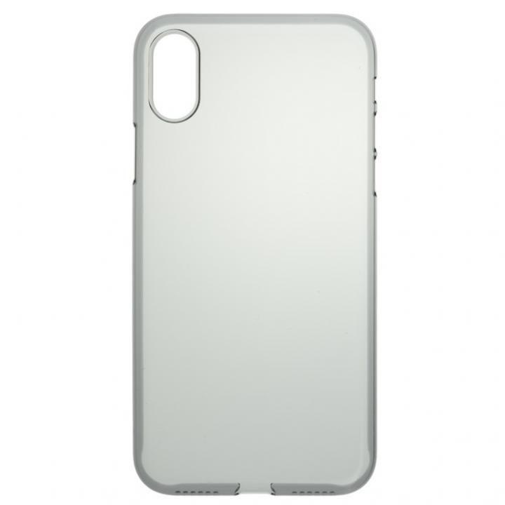iPhone X ケース パワーサポート  Air jacket クリアブラック iPhone X【5月下旬】_0